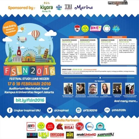 Yuk Ramaikan Acara ''Festival Studi Luar Negeri' (FSLN
