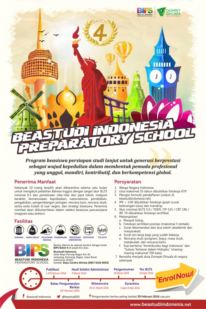 poster Beastudi Indonesia Preparatory School Batch 4