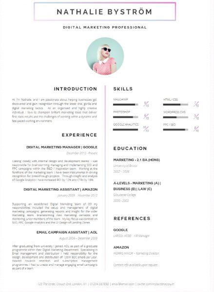 9 Contoh Cv Kreatif Untuk Melamar Kerja Unjkita Com