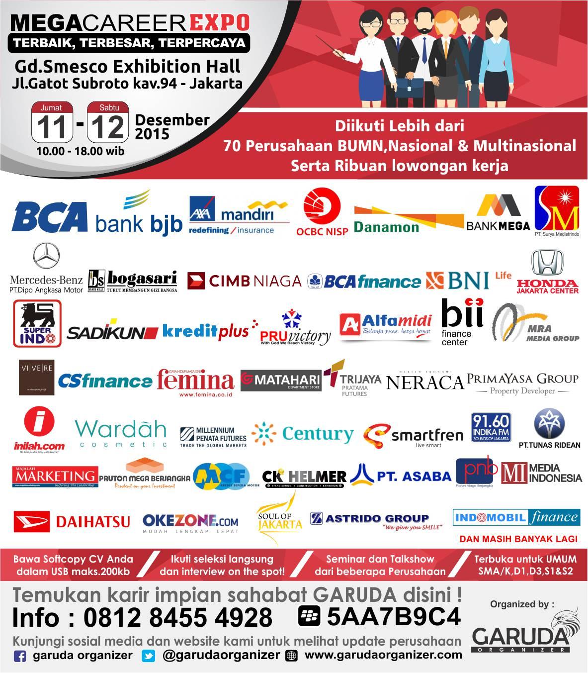 Job Fair Mega Career Expo Jakarta Desember 2015